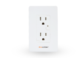 z-wave in wall smart duplex receptacle
