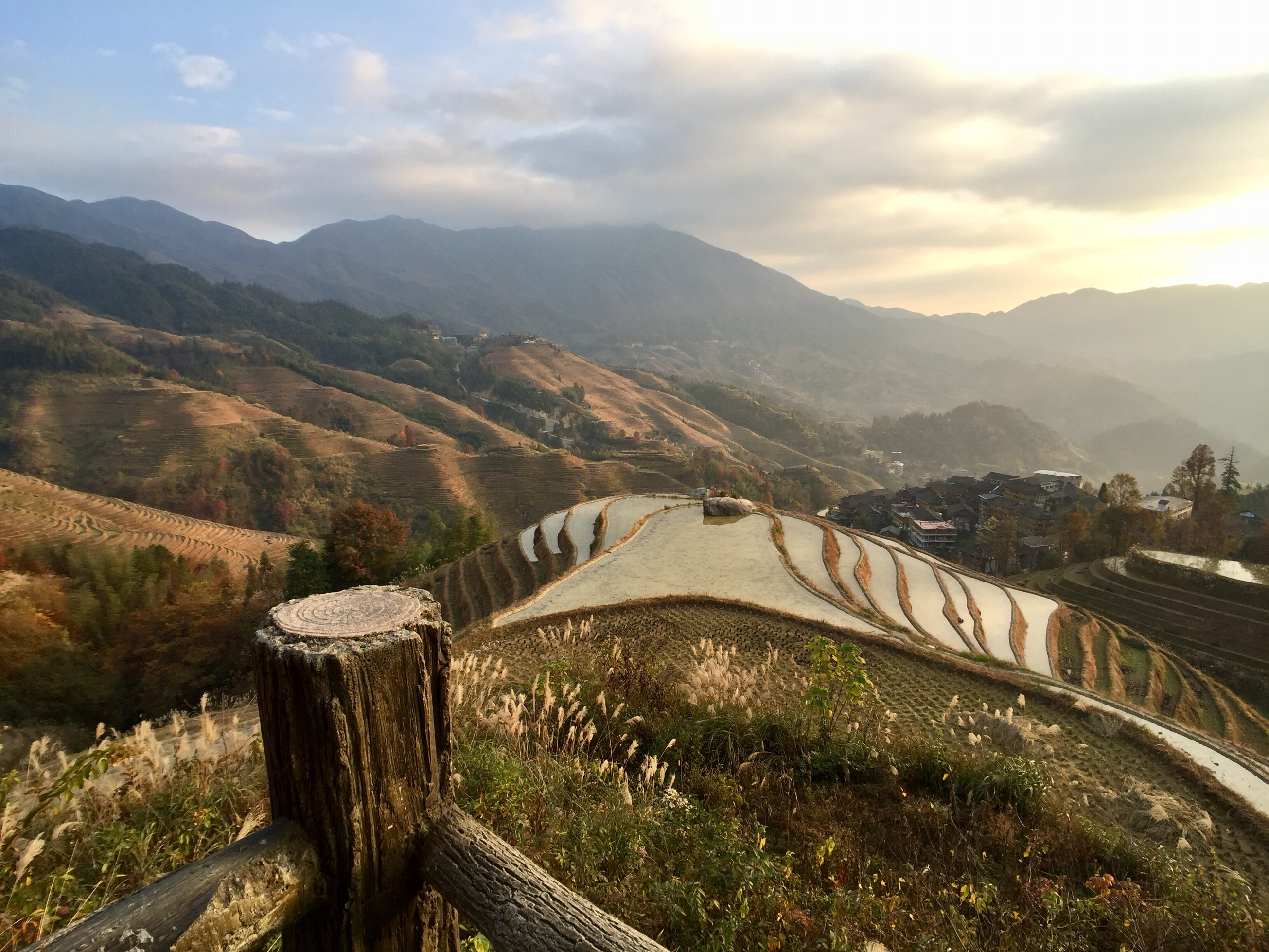 beautiful view of Longji rice terraces